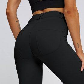 Črne push up ženske hlače