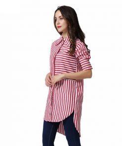 Ženska karirasta srajca od strani
