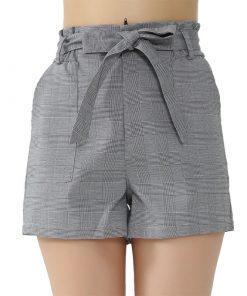 Ženske elegantne hlače v sivi barvi