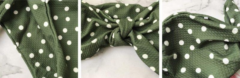 zelene pikčaste kopalke