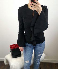 Ženska črna bluza
