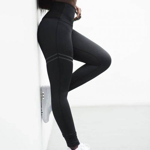 Črne športne pajkice za fitnes FitLinda
