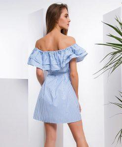 Lahka poletna obleka slikana zadaj