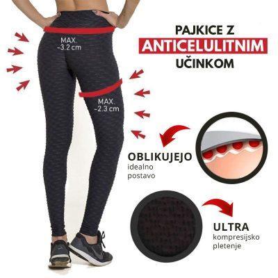 Črne športne Push Up pajkice FitJean