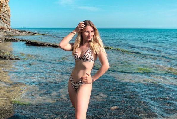 Leopard bikini kopalke