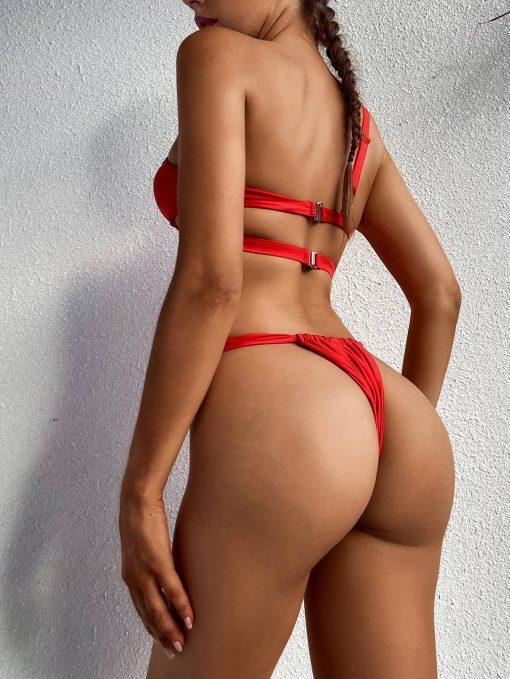 dvodelne rdeče kopalke