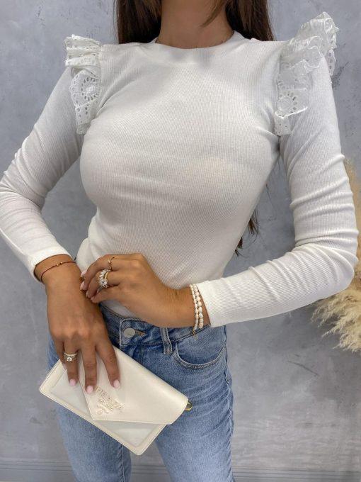 bela majica za volančki