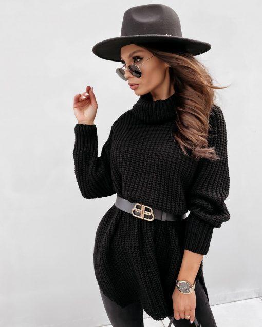 črna oversize obleka renata